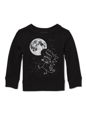 The Children's Place Baby Boy & Toddler Boy Long Sleeve Dino Space Graphic Sweatshirt