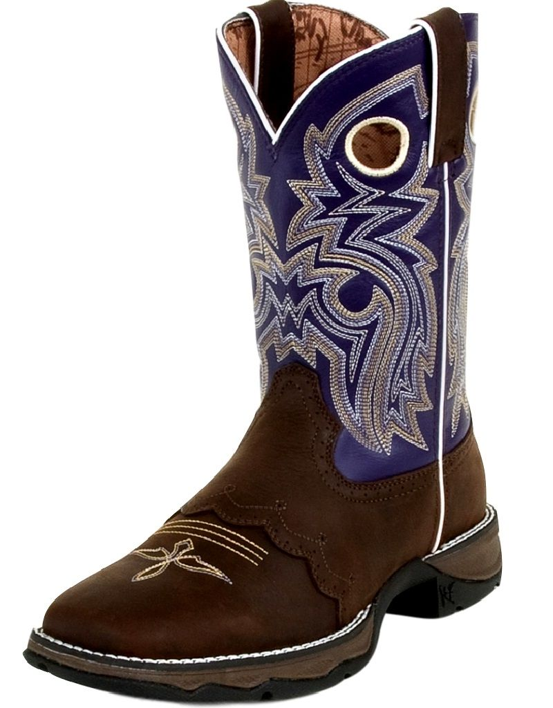 "Durango Western Boot Women 10"" Rebel Saddle Square Toe Twilight RD3576 by Durango"