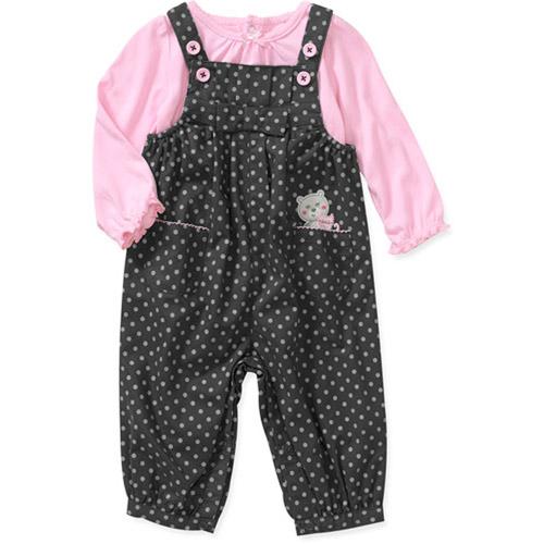 Child of Mine Carters Newborn Girls' 2-Piece Tee and Overall Set