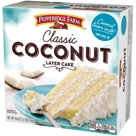Pepperidge Farm Frozen Coconut Layer Cake 196 Oz Box Walmartcom