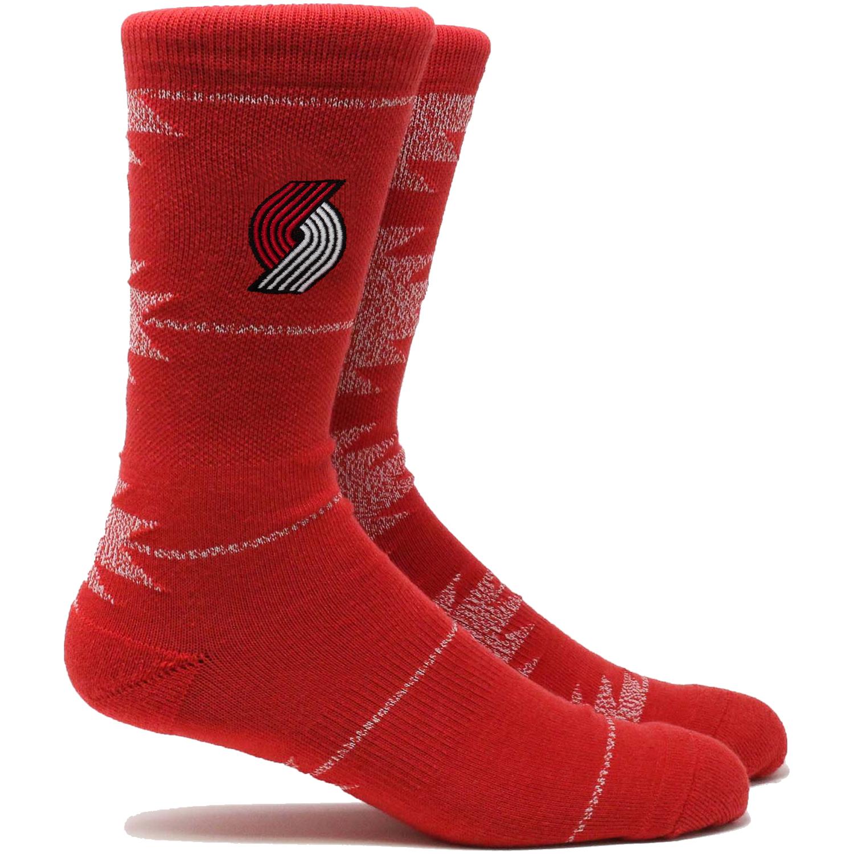 Portland Trail Blazers Geo Crew Socks - L