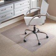 "ES Robbins Chair Mat for Flat/Low Pile Carpet, 46"" x 60"" No Lip, Clear"