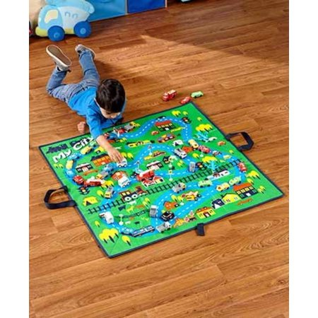 51-Pc. Foldable City Playmat, 51-Pc. set includes:Foldable playmat, 36 sq.16 Cars, 3 Ambulances, 3 Police cars, 3 Airplanes, 3 Fire trucks, 8.., By The Lakeside Collection