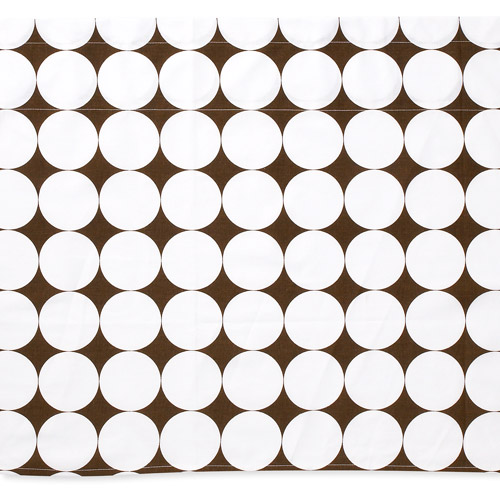 Bacati Dots Valance, White and Brown