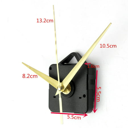 Silent Gold Hands Quartz Wall Clock Movement Mechanism Repair Parts Diy Tool Kit
