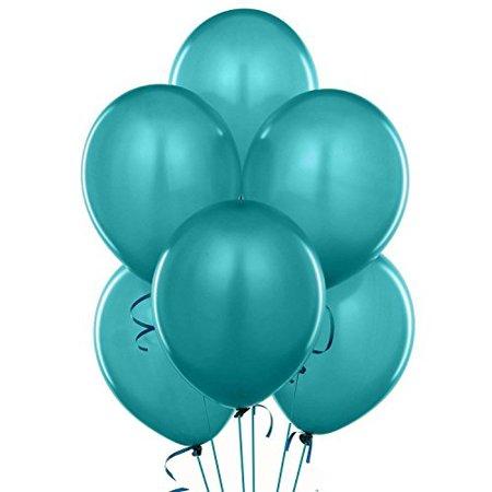 11 Inch Latex Balloons Metaltone Metallic Teal (Premium Helium Quality) Pkg/72, High Quality Durable Natural Latex By PMU](Pearlized Balloons)