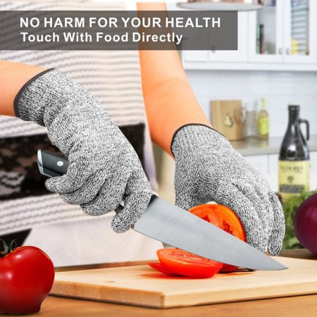 NoCry Chop Wizard Cut Resistant Gloves - High Performance Level 5 Protection, Food Grade. Size Large
