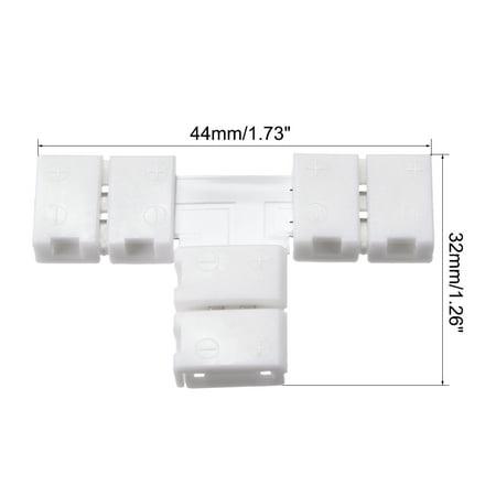 8mm 2P T-Forme LED Bande Connecteur Unique Couleur 3528 LED Bande Lumière 5Pcs - image 1 de 3
