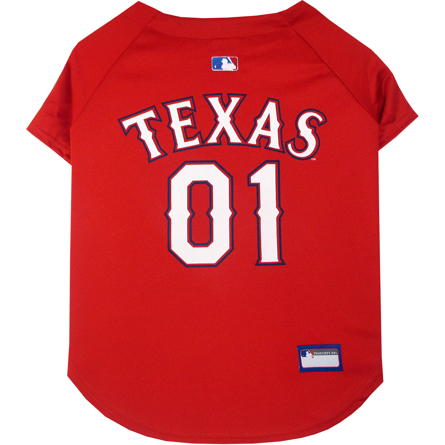 Pets First MLB Texas Rangers Pet Jersey