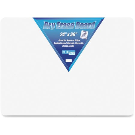 Flipside Dry Erase Board, 2' x 3', White, Frameless 2 Door Presentation Board
