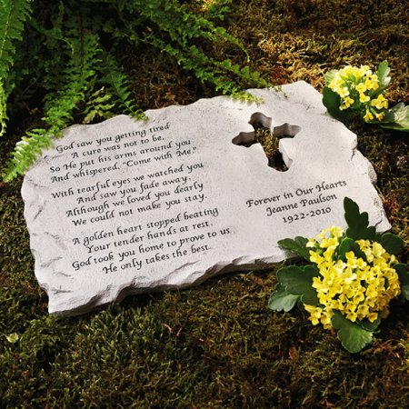 Sympathy Stones For The Garden Personalized cross memorial stone walmart personalized cross memorial stone workwithnaturefo