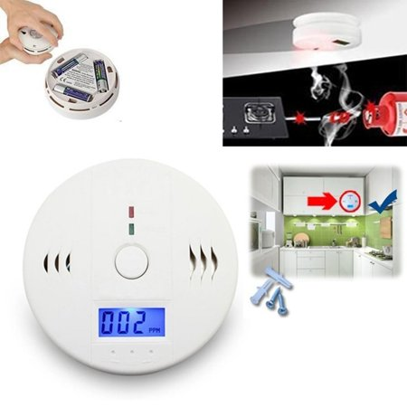 Fire Detection Sensor - 1-20 Pack Battery Operated CO Carbon Monoxide Sensor Alarm Alert Detector Tester Poisonous Gas Detection Fire Alarm Monitor LCD Display for CO Level Home Security Safety CE