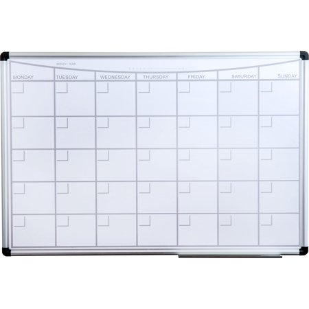 Viztex | Magnetic Monthly Planner Dry Erase Board | Lacquered Steel with Aluminium Frame | Size 36