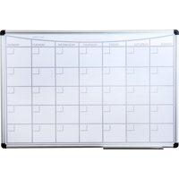 """Viztex   Magnetic Monthly Planner Dry Erase Board   Lacquered Steel with Aluminium Frame   Size 36"""" x 24"""""""