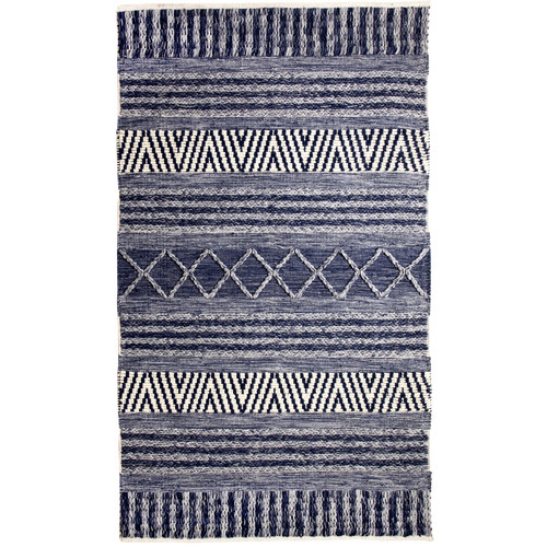 Crescent Drive Rug Company Heirloom Hand-Woven Blue/Ivory Area Rug