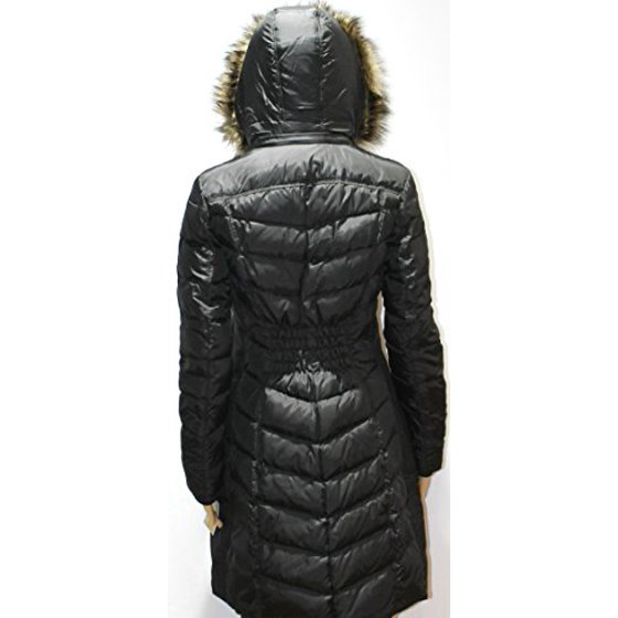 b279be0744 Michael Kors - Michael Kors Women's Hooded Faux Fur Down Puffer Coat ...