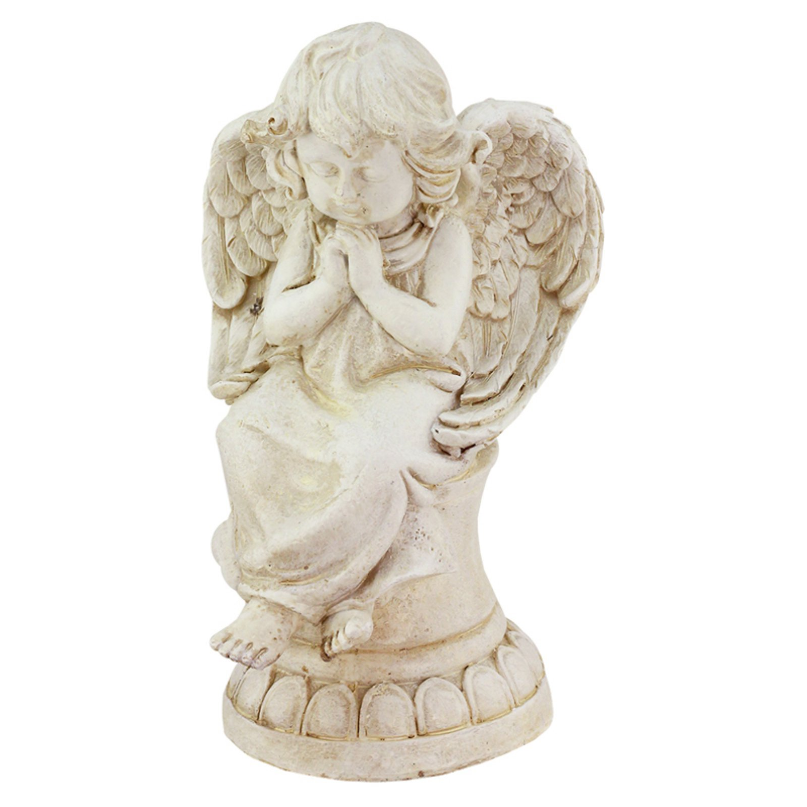 Northlight Heavenly Gardens Cherub Angel on Pedestal Outdoor Garden Statue