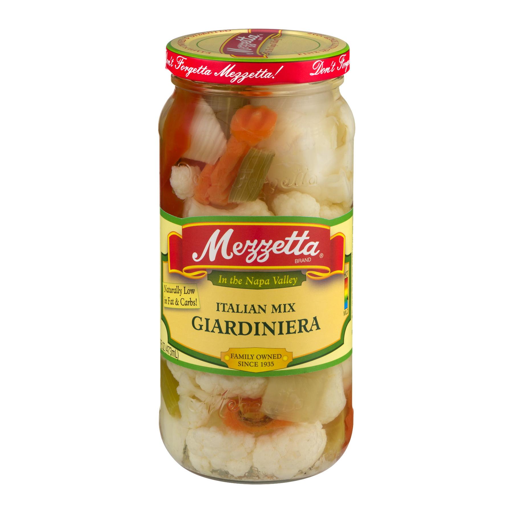 (6 Pack) Mezzetta Italian Mix Giardiniera, 16 Oz