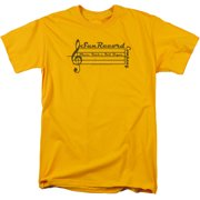 Sun Records Music Staff Mens Short Sleeve Shirt