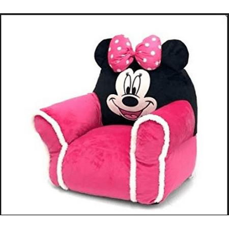 Disney Minnie Mouse Kids Figural Bean Bag with Sherpa Trimming Minnie Bean Bag