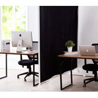 Product Image Don T Look At Me Privacy Room Divider White Frame With Black Fabric