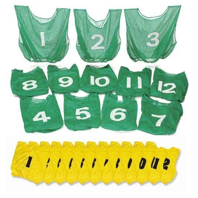 Everrich EVC-0084 Numbered Vest Pack - 22 x 20 Inch - Set of 12