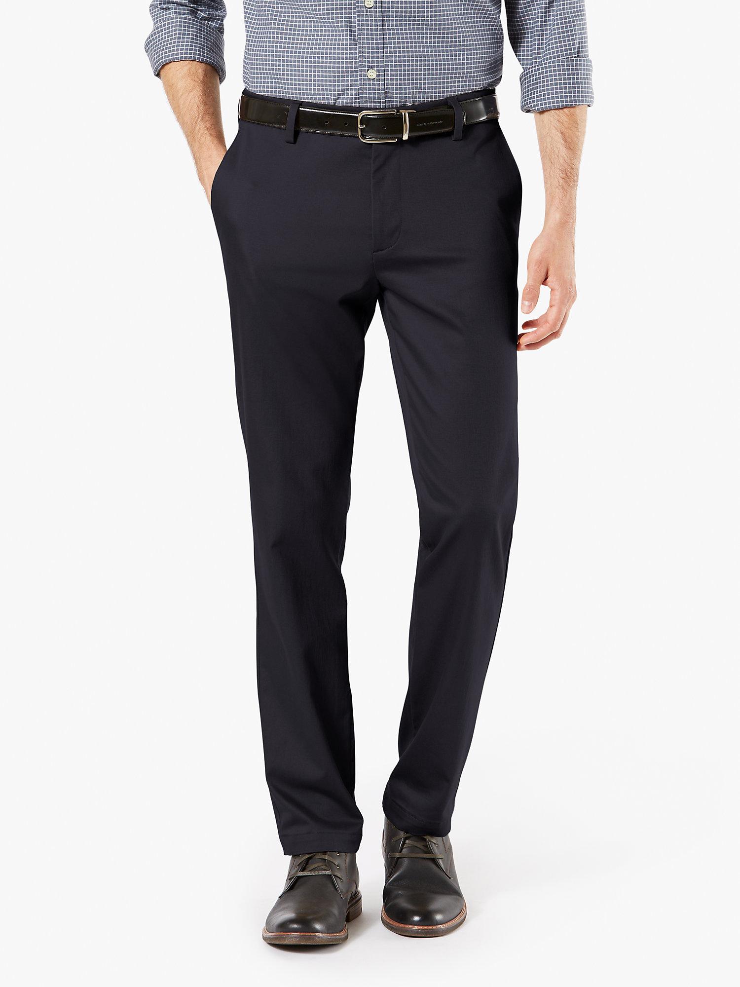 Men's Big & Tall Modern Tapered Fit Signature Khaki Lux Cotton Stretch Pants