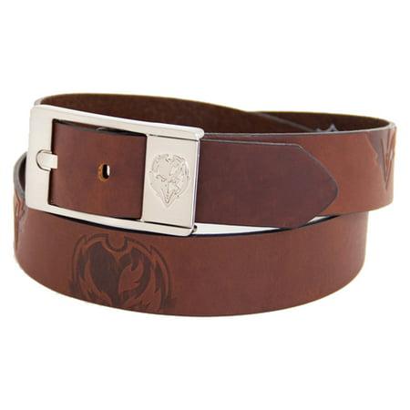 Baltimore Ravens Brandish Leather Belt - Brown - Raven Cosplay Belt