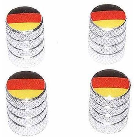 German Flag Germany BMW Tire Rim Wheel Aluminum Valve Stem Caps, Multiple (Silver Bmw 5 Series With Black Rims)