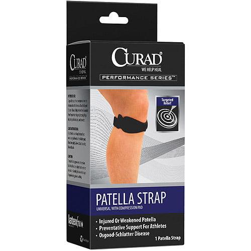 Curad Peformance Series Knee Patella Strap with Compression Pad-Universal