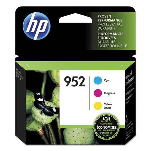 HP 952 (N9K27AN) Cyan, Magenta, Yellow Original Ink Cartridges, 3 Pk by HP