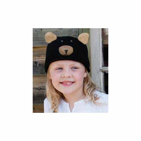 Kids Babu The Black Bear Beanie by Knitwits - A637K