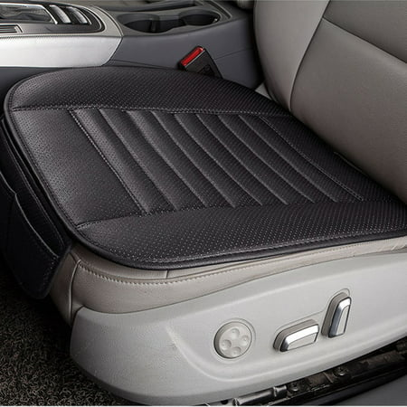 Breathable PU Leather Bamboo Charcoal Car Interior Seat Cover Cushion Pad for Auto Supplies Office (Cat Auto)