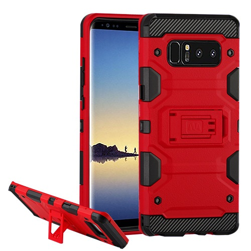 MUNDAZE Red Defense Double Layered Case For Samsung Galaxy S8 Phone