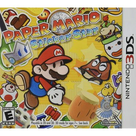 Paper Mario Sticker Star for Nintendo 3DS (Paper Mario Sticker Star World 1 4)