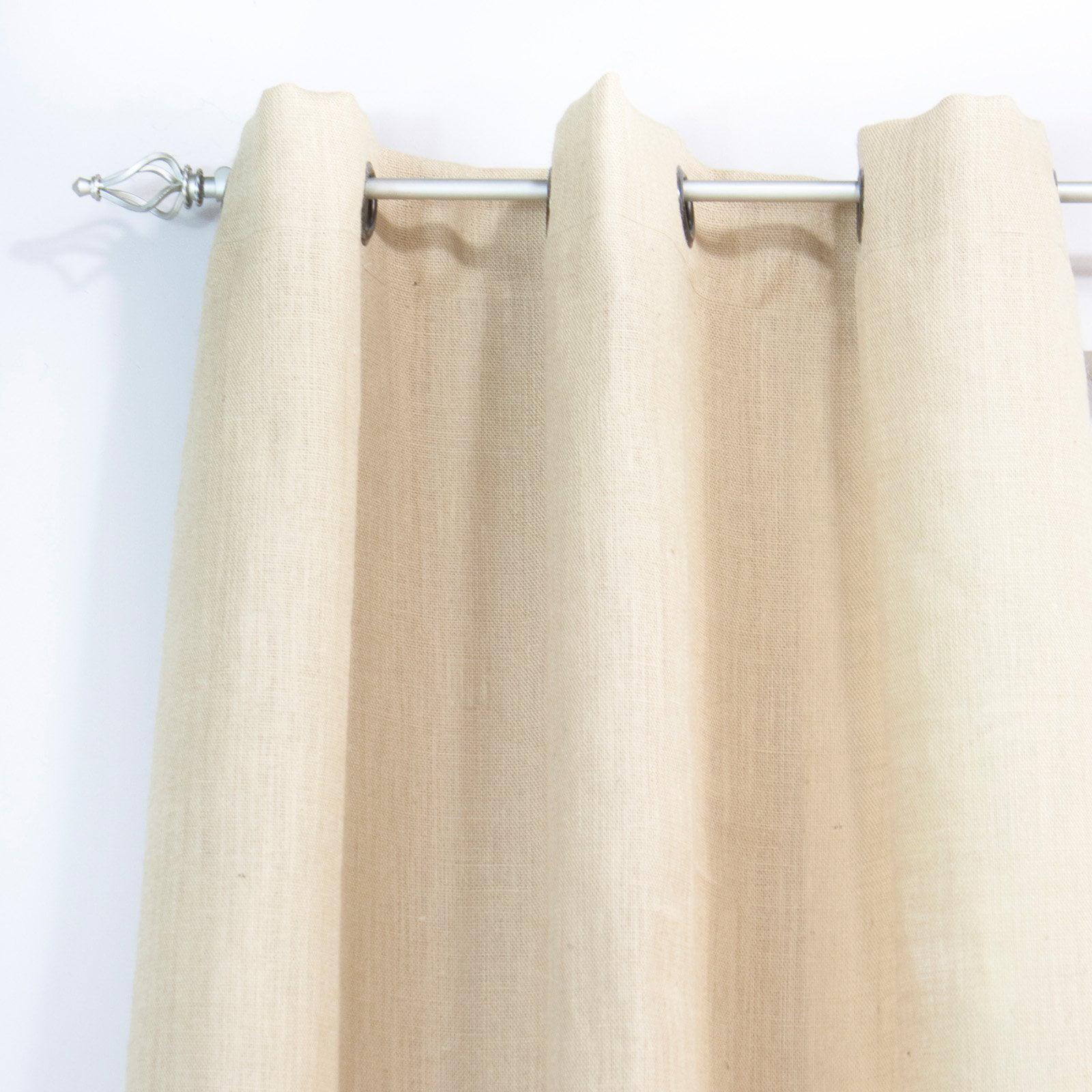 Brite Ideas Living Burlap Grommet Curtain Panel