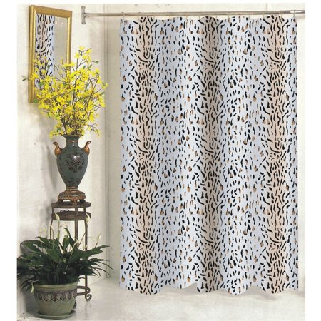 Wild Selva Panther Design Extra Long Fabric Shower Curtain Size: 70