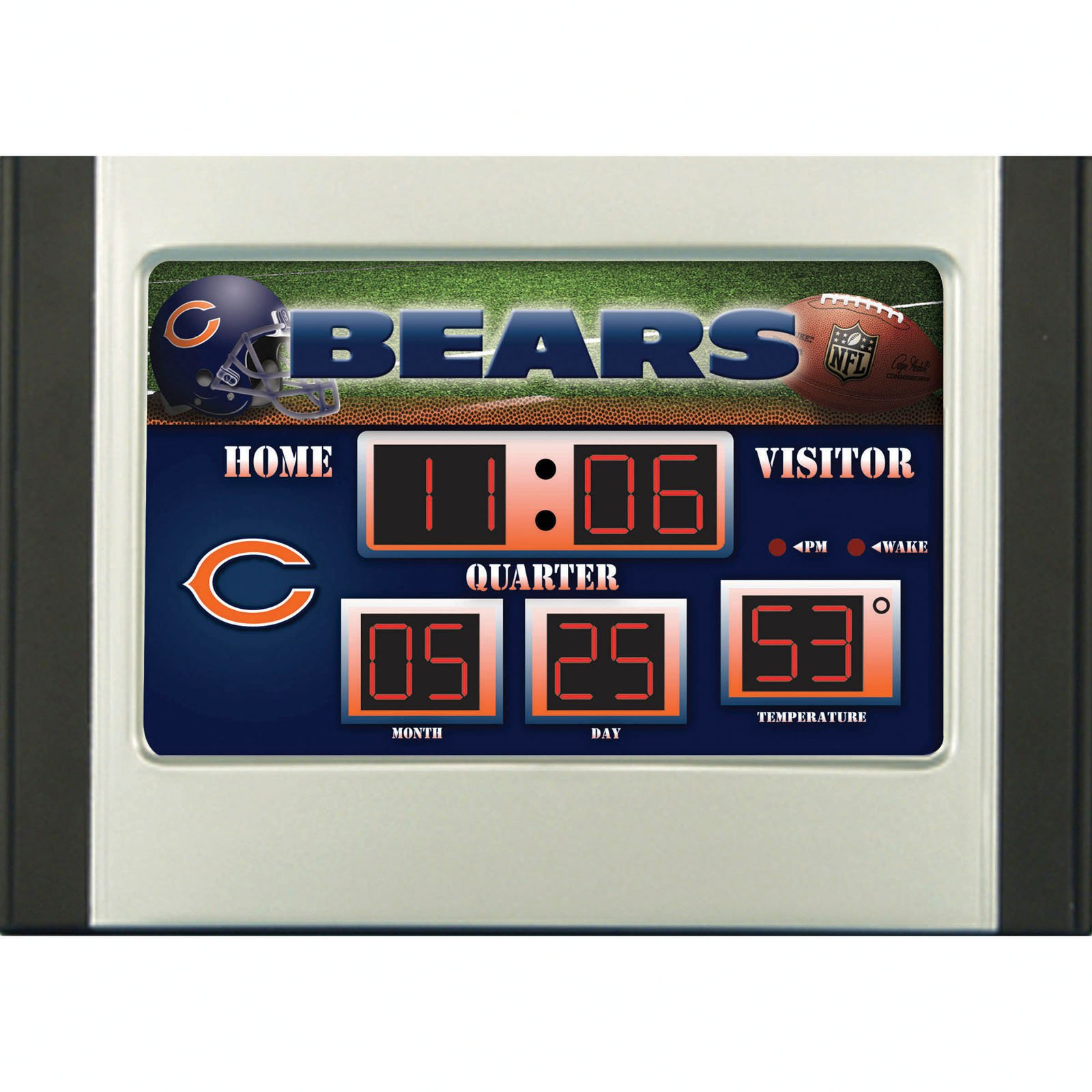 Chicago Bears Scoreboard Desk & Alarm Clock