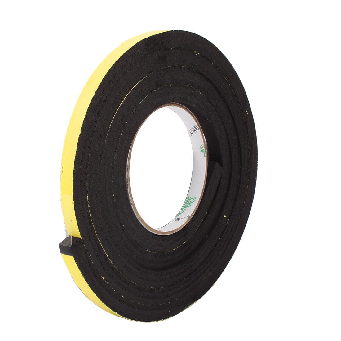 10x10mm Single Sided Self-Adhesive Shockproof Sponge Foam Tape 2M Long
