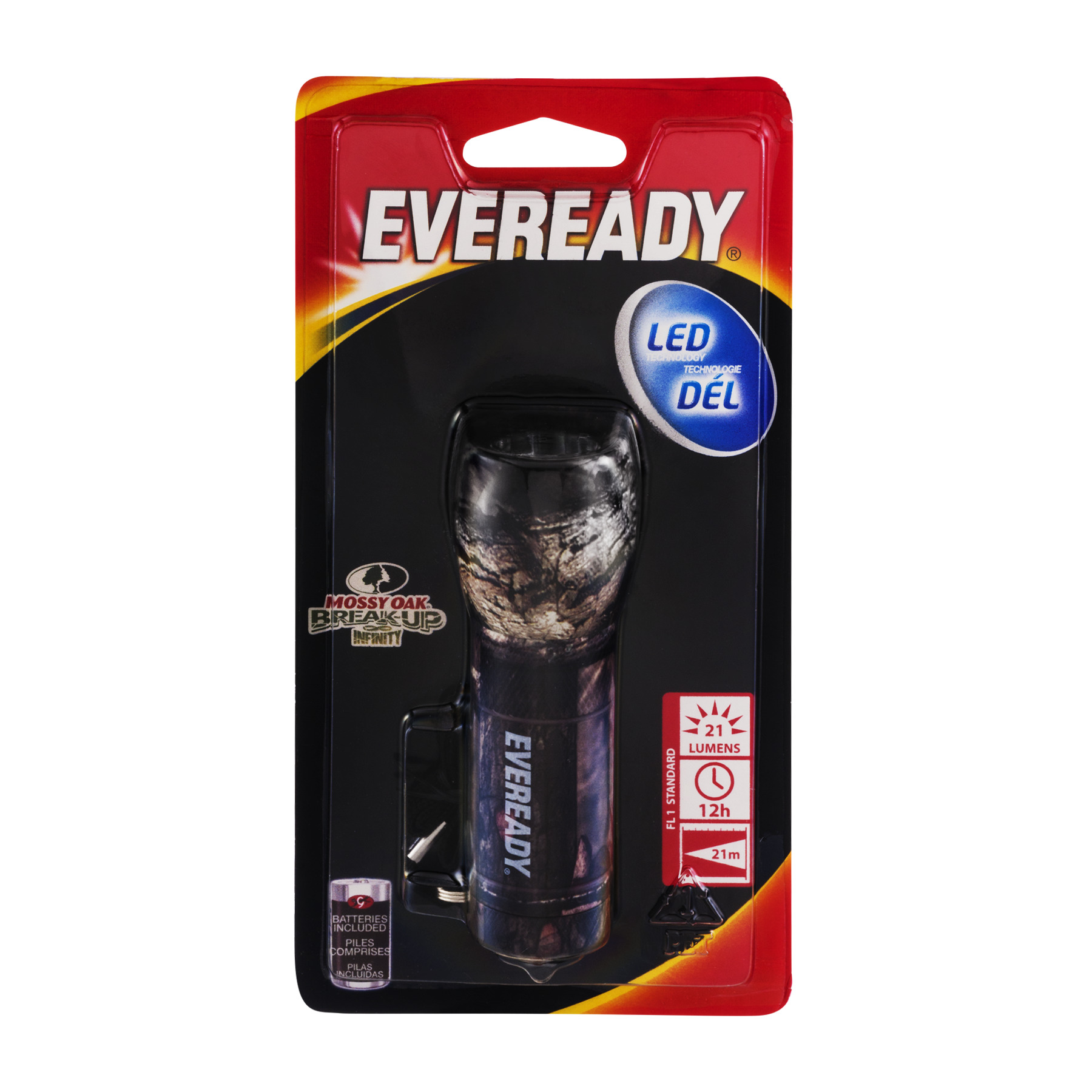Eveready LED Mossy Oak Break-Up Infinity Flashlight, 1.0 CT