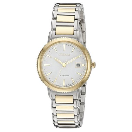 Eco-Drive Silhouette Two-Tone Ladies Watch (Ladies Two Tone Eco Drive)