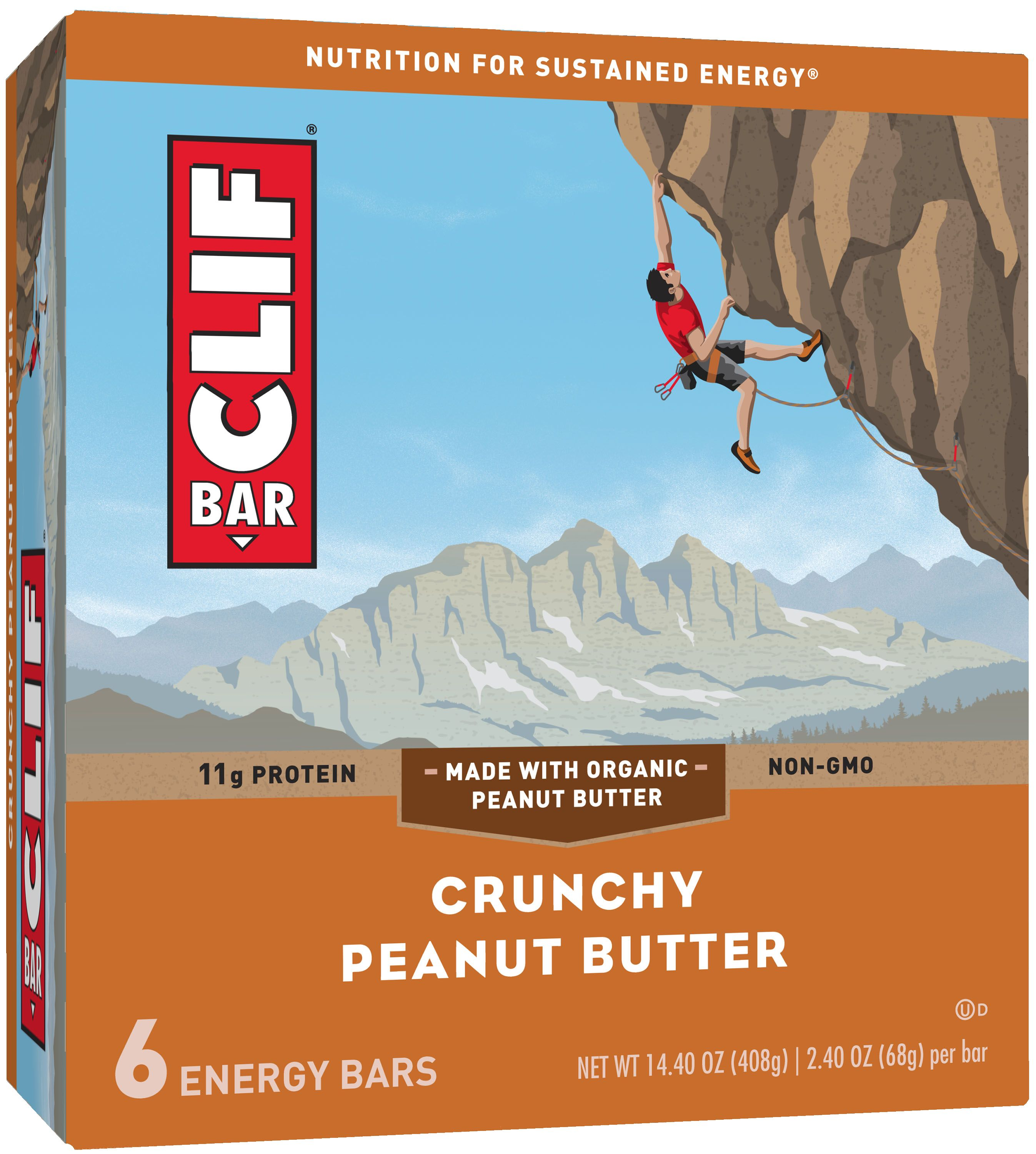 Clif Bar Crunchy Peanut Butter Energy Bars 6-2.4 oz. Bars