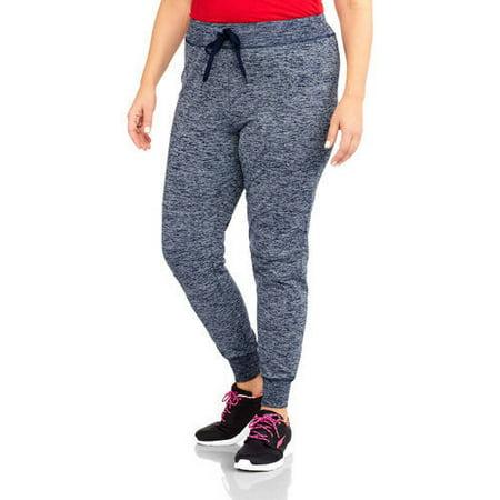Danskin Now Women's Plus-Size Tech Fleece Skinny Jogger Pants