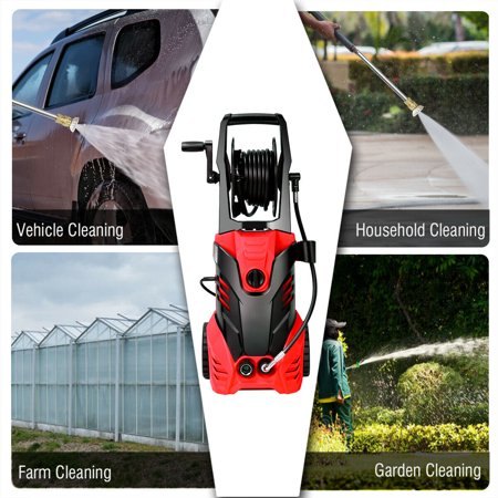 3000PSI Electric High Pressure Washer Machine 2 GPM 2000W w/ Deck Patio Cleaner - image 8 of 10