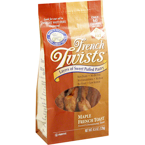 Barry's Bakery French Twists Maple French Toast Puffed Pastry, 4.5 oz (Pack of 12)