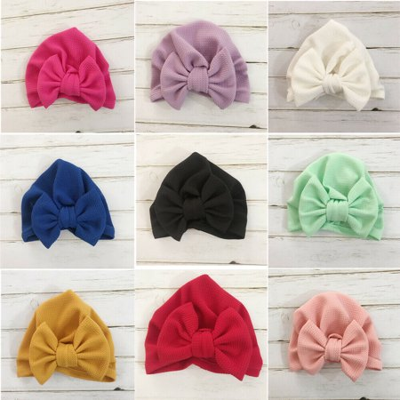 Cute Newborn Toddler Kids Baby Boy Girl Indian Turban Knot Cotton Beanie Hat Cap - Cute Graduation Caps