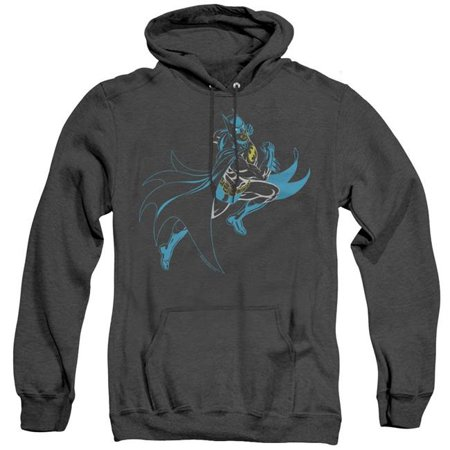Batman & Neon Batman-Adult Heather Hoodie, Black - 3X