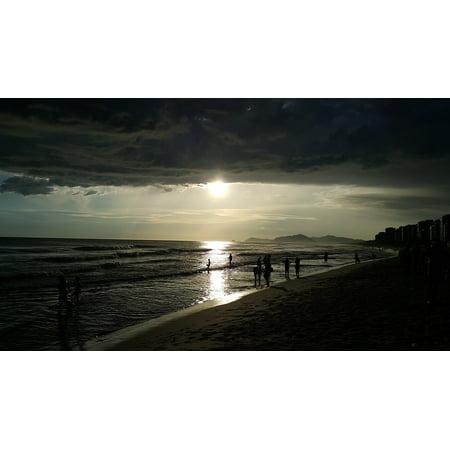 Framed Art For Your Wall Beach Heavy Clouds Rio De Janeiro Bar Stormy 10x13 Frame ()