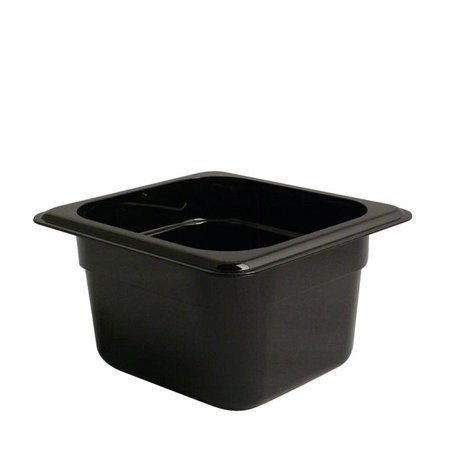 Camwear Food Pan Sixth Size Black 4