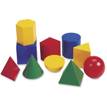 "Learning Resources, LRN0922, Large 3"" Geometric Shapes Set, 10 / Set, Multi"